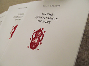 Quintessence of Wine Title Page Cotnoir Alchemy